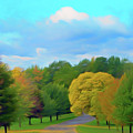 Romantic Skies Autumn Road by Aimee L Maher ALM GALLERY