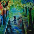 Romantic Stroll by Leslie Allen