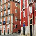 Romantic Walking At Old Lisbon by Carlos Perez Muley