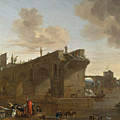 Rome. A View Of The Ponte Rotto by Jan Asselijn