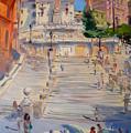 Rome Piazza Di Spagna by Ylli Haruni