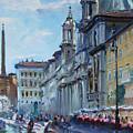 Rome Piazza Navona by Ylli Haruni