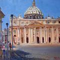 Rome Piazza San Pietro by Ylli Haruni