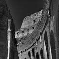 Rome - The Colosseum 001 Bw by Lance Vaughn