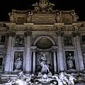 Rome, Trevi Fountain At Night by Andrea Mazzocchetti