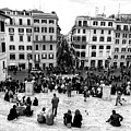 Rome View From The Spanish Steps by John Rizzuto