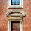 Rome Windows And Balcony Textured by Joan Carroll