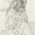 Romeo And Juliet, With Friar Lawrence by Simeon Solomon
