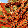 Roof Of Buddhist Temple In Thailand by Gerlya Sunshine