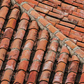 Roof Tiles And Mortar  by Bob Phillips