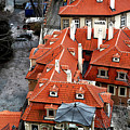 Roofs In Prague by John Rizzuto