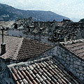 Roofs Of Dubrovnik by Donna Corless