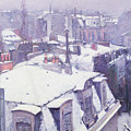 Roofs under Snow by Gustave Caillebotte