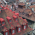 Rooftops Of Bern Switzerland by Carl Purcell