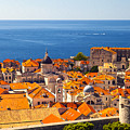 Rooftops Of Old Town Dubrovnik by Sandra Rugina