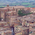 Rooftops Of Siena 2 by Debbie Fenelon