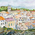 Rooftops Of Viviers by Nancy Brennand