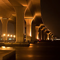 Roosevelt Bridge At Night by Michael Herb