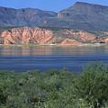 Roosevelt Lake - Panoramic by Sandra Bronstein