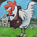 Rooster And Hen House by Tim Nyberg