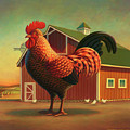 Rooster and the Barn by Robin Moline
