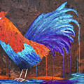 Rooster Painting by Ken Figurski