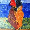 Rooster With Attitude by Gary Smith