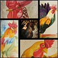 Roosters by Maria Urso