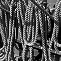 Ropes For The Rigging Bw 1 by Mark Sellers