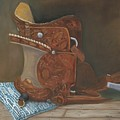 Roping Saddle by Mendy Pedersen