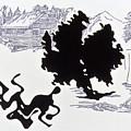 Rorschach 1 Wrestlers by Karl Frey