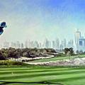 Rory At Ddc Emirates Gc Dubai 8th 2014  by Mark Robinson