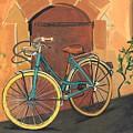 Rose And Bicycle by Sarah Gillard