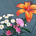 Rose Baby Breath And Lilly by Michael Peychich