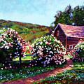 Rose Bushes by David Lloyd Glover