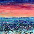 Rose Dusk Beach by Regina Valluzzi