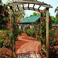 Rose Garden Entrance by Cynthia Guinn
