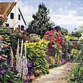 Rose House Garden Wall by David Lloyd Glover