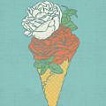 Rose Ice Cream by Evgenia Chuvardina