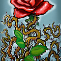 Rose N Thorns by Kevin Middleton
