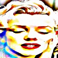 Rose Of Marilyn Monroe In Thick Paint by Catherine Lott