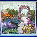 Rose Trellis Garden by Sarah Hornsby