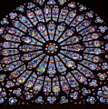 Rose Window At Notre Dame Cathedral Paris by Jon Berghoff