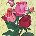 Rose With Roses by Pushpa Sharma