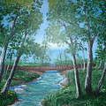 Roseanne And Dan Connor's River Bridge by Susan Michutka