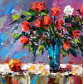 Roses And A Peach by Debra Hurd
