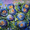 Roses Are Blue  by OLena Art Brand
