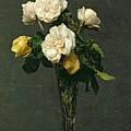 Roses in a Champagne Flute by Ignace Henri Jean Fantin-Latour