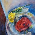 Roses In A Fish Bowl by Joyce Kanyuk