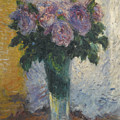 Roses In A Vase by Gustave Caillebotte